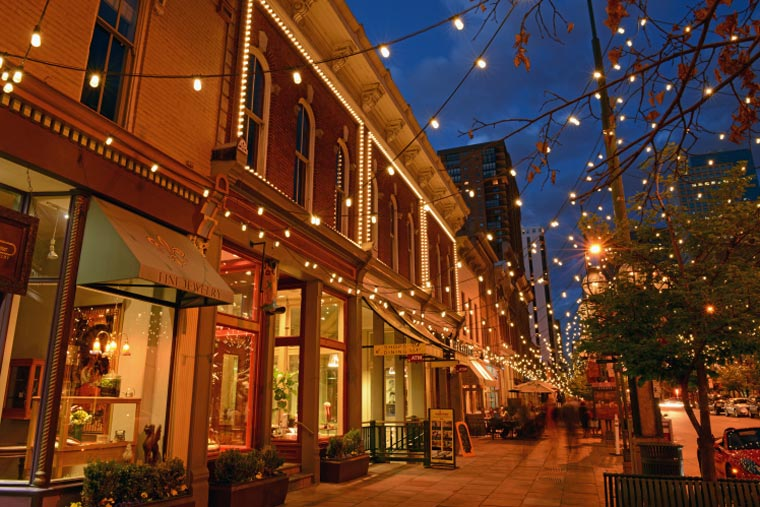 Commercial String Lights at Larimer Square
