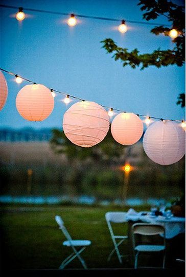 Paper Lanterns & String Lights