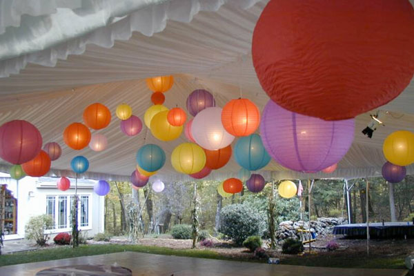 Paper Lanterns with Pendant Lights