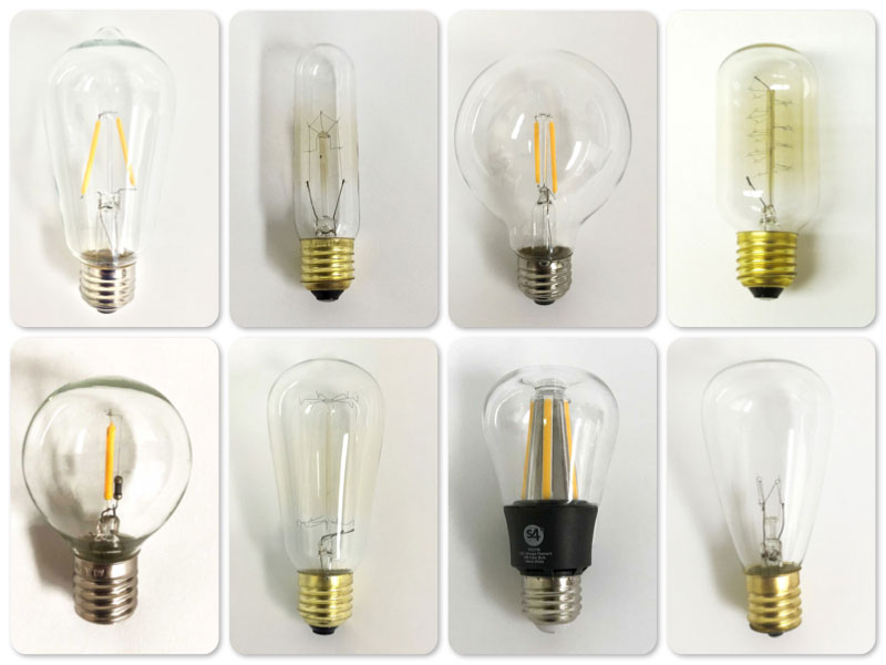 Vintage Edison Light Bulbs group