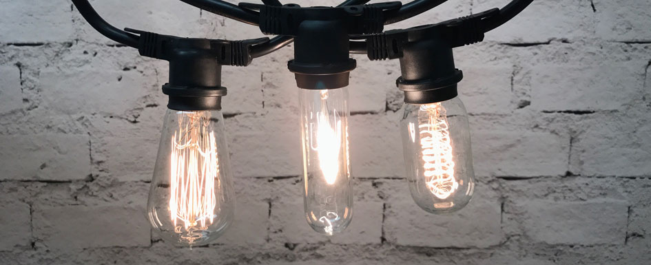 Vintage Edison String Lights feature