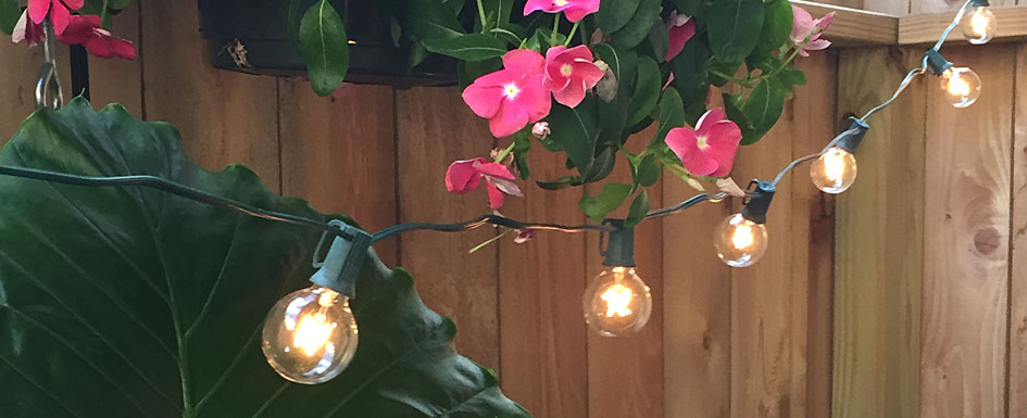 Spring Outdoor Patio Lights