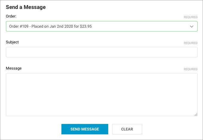 Send an order message